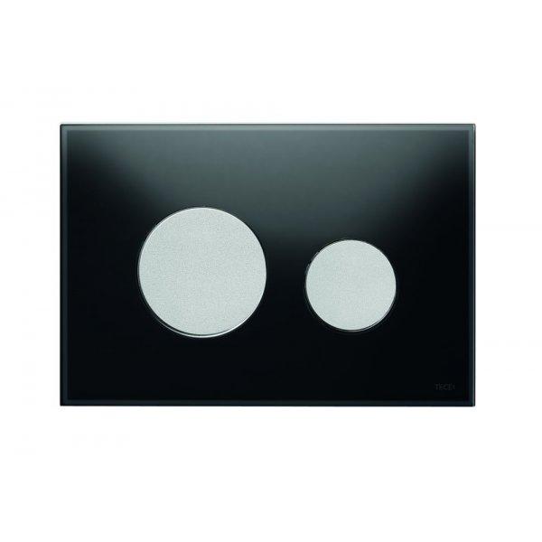 wc bet tigungsplatte loop zweimengentechnik glas schwarz tasten ch 139 99. Black Bedroom Furniture Sets. Home Design Ideas