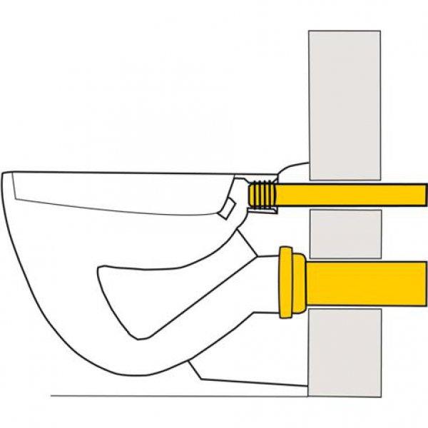 wand wc anschlussgarnituren 300 mm lang verschwei bar dn 90. Black Bedroom Furniture Sets. Home Design Ideas